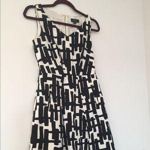 Graphic Print Tahari Fit and Flare Dress